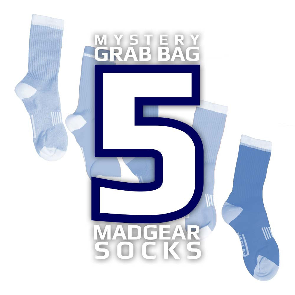 MadGear Lacrosse Socks - 5 Pair Grab Bag