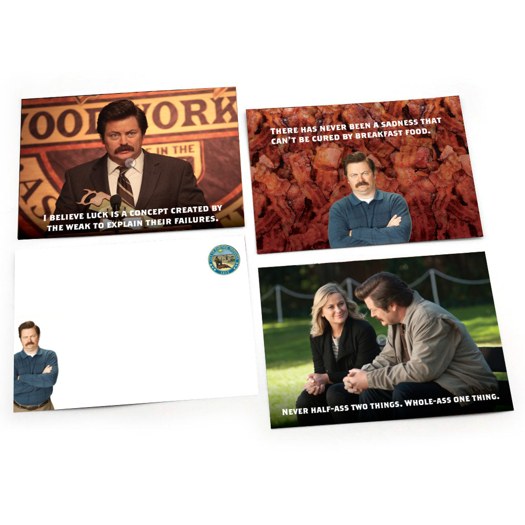 Jumbo Lunch Notes: Parks and Rec, Ron Swanson Wisdom Notes - Pack of 6