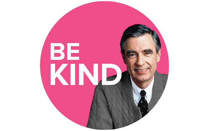 Magnet: Mister Rogers Be Kind 2.25 Inch Circle Magnet, Set of 12