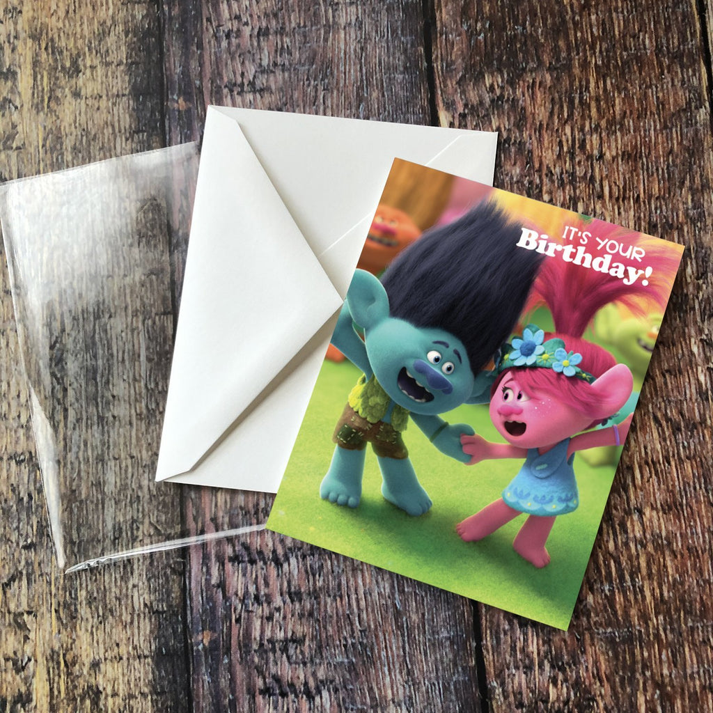 "Branch and Queen Poppy ""It's Your Birthday!"" Card - Pack of 6"