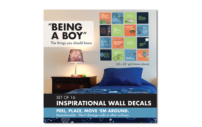 Wall Decal Set: Being a Boy, Set of 4