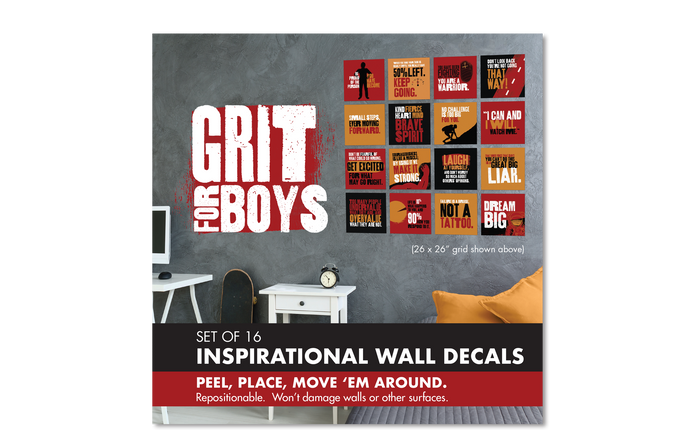 Wall Decal Set: Grit for Boys, Set of 4