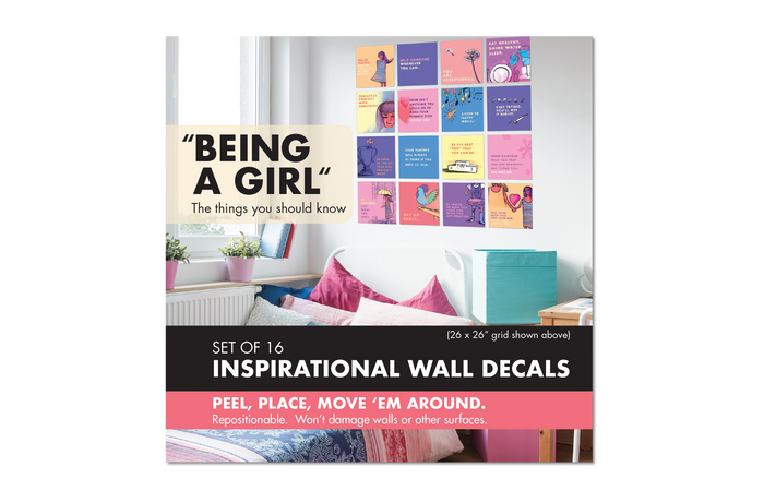 Wall Decal Set: Being a Girl, Set of 4