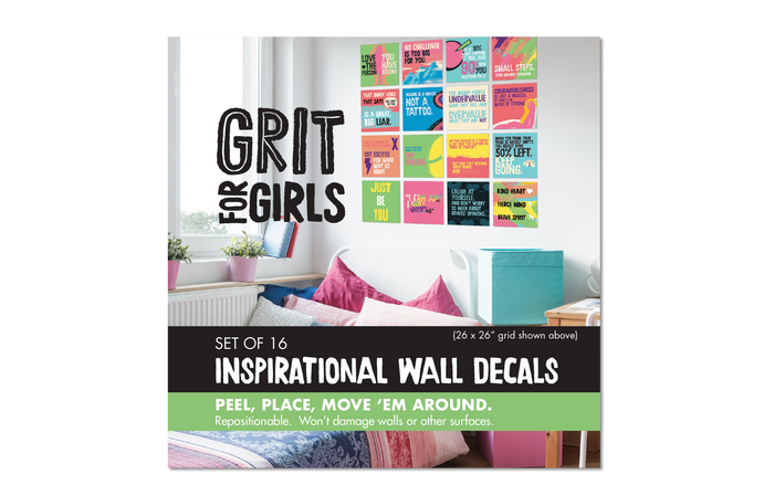 Wall Decal Set: Grit for Girls, Set of 4