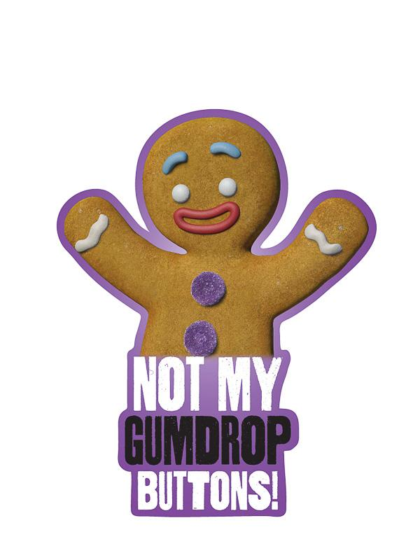 """Not My Gumdrop Buttons"" Kiss-Cut Sticker - Pack of 6"