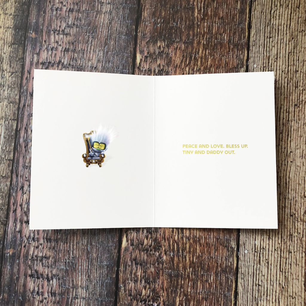 "Guy and Tiny Diamond ""Let's Lay Down Some Birthday Wishes..."" Card - Pack of 6"