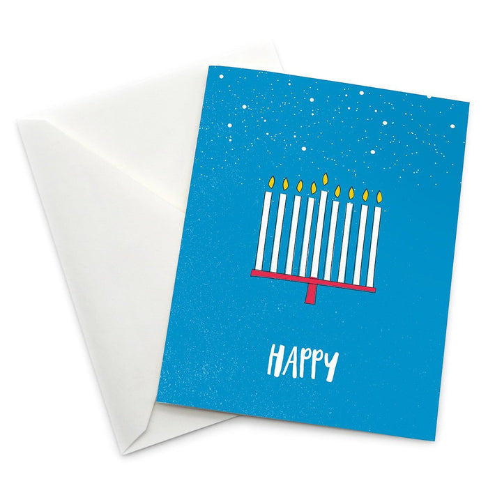Happy Hanukkah Greeting Card - Pack of 6