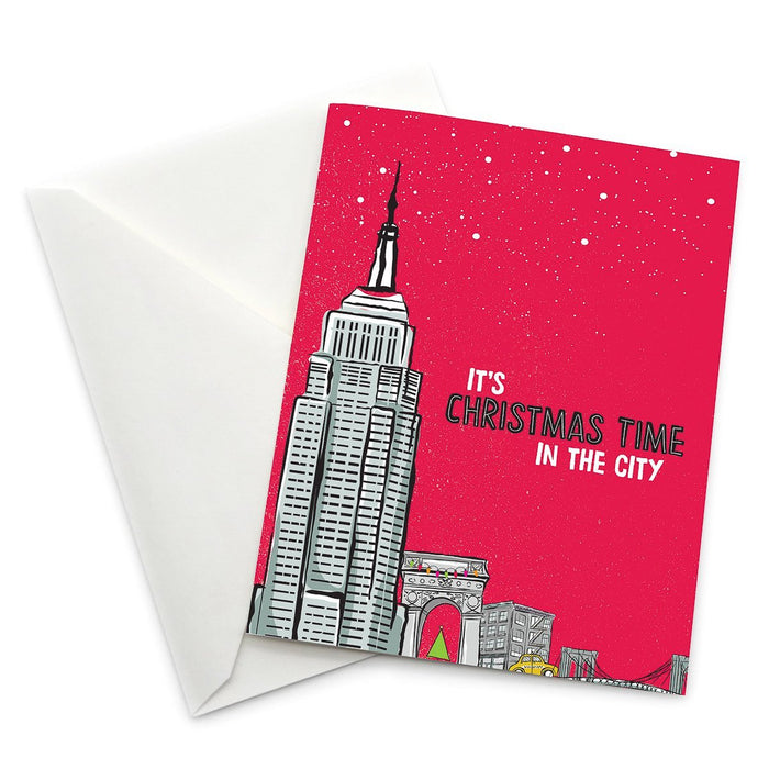 It's Christmas Time in the City Card - Pack of 6