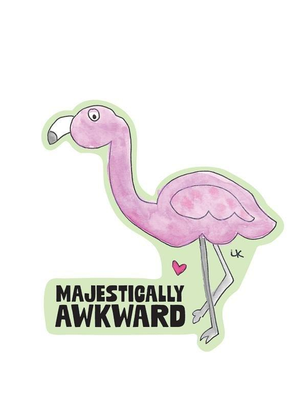 Majestically Awkward Kiss-Cut Sticker - Pack of 6