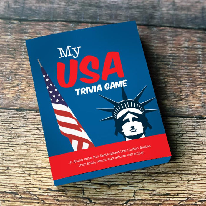 My USA Trivia Cards, Pk of 4