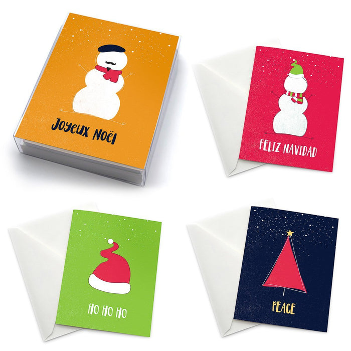 Christmas Greeting Card Set - Pack of 6