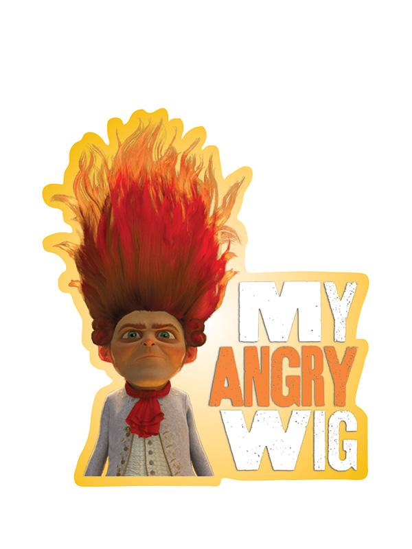 "Rumpelstiltskin ""My Angry Wig"" Kiss-Cut Sticker - Pack of 6"