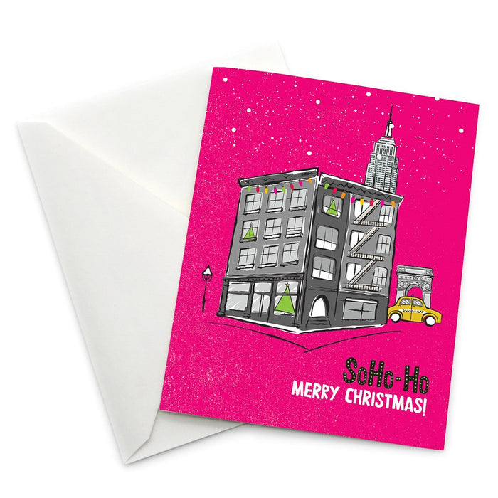 SoHo-Ho Christmas Card - Pack of 6