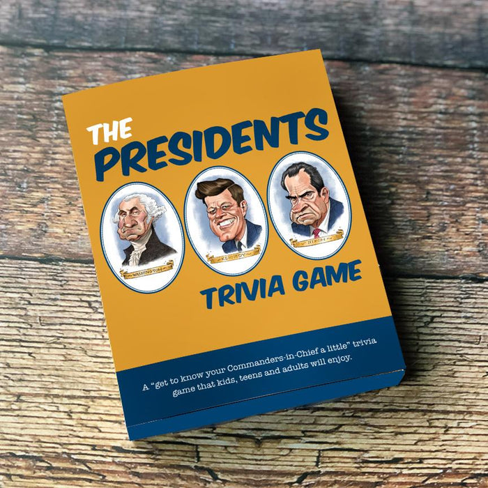 The Presidents Trivia Cards, Pk of 4