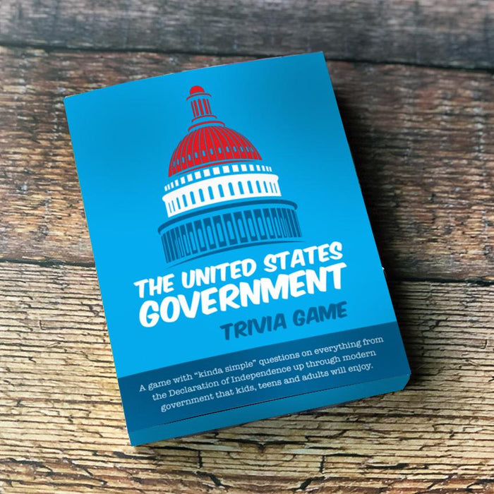 The US Government Trivia Cards, Pk of 4