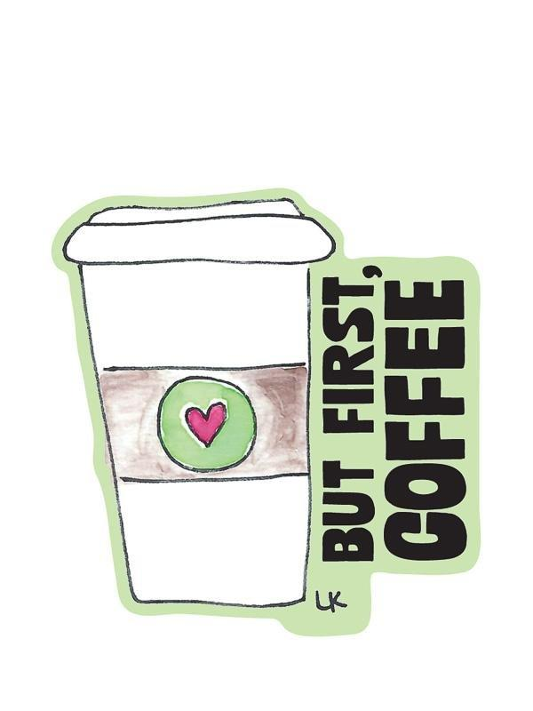 But First Coffee Kiss-Cut Sticker - Pack of 6