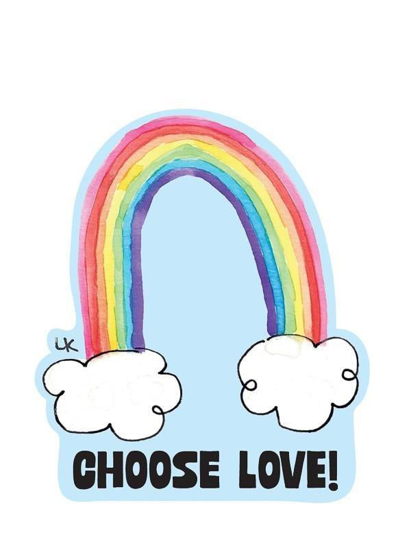 Sticker: Choose Love - Pack of 6