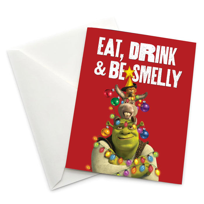 "Shrek ""Eat, Drink & Be Smelly"" Holiday Card - Pack of 6"