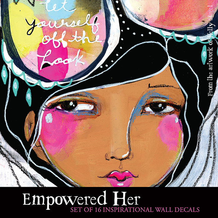 Wall Decal Set: Empowered Her, Set of 4