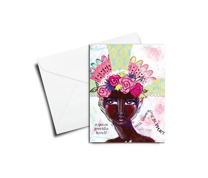 Greeting Card: Kelly Siegel A Queen Provides Herself - Set of 6