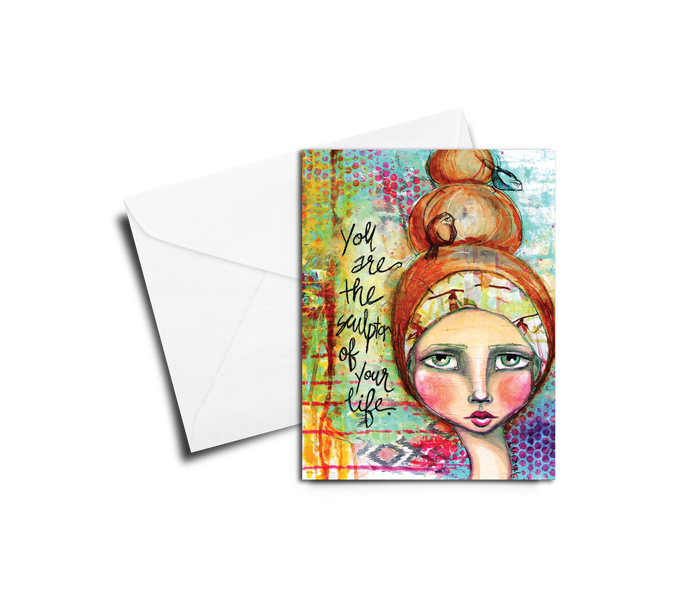 Greeting Card: Kelly Siegel You Are the Sculptor - Set of 6