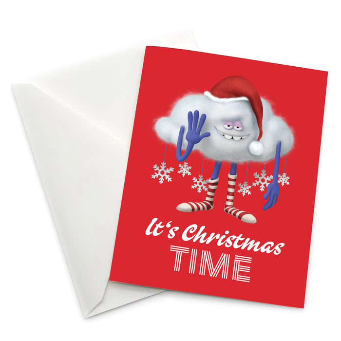 Greeting Card: Trolls, Cloud Guy It's Christmas Time - Pack of 6