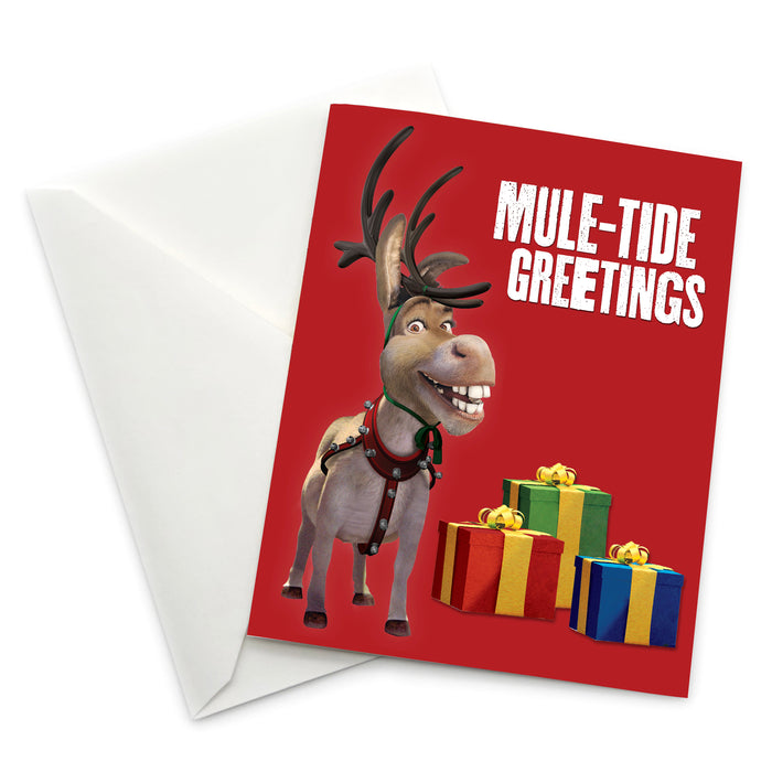 "Donkey ""Mule-Tide Greetings"" Holiday Card - Pack of 6"