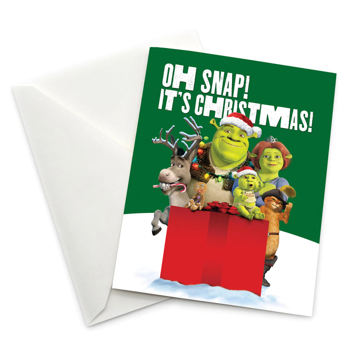 "Shrek ""Oh Snap! It's Christmas!"" Holiday Card - Pack of 6"