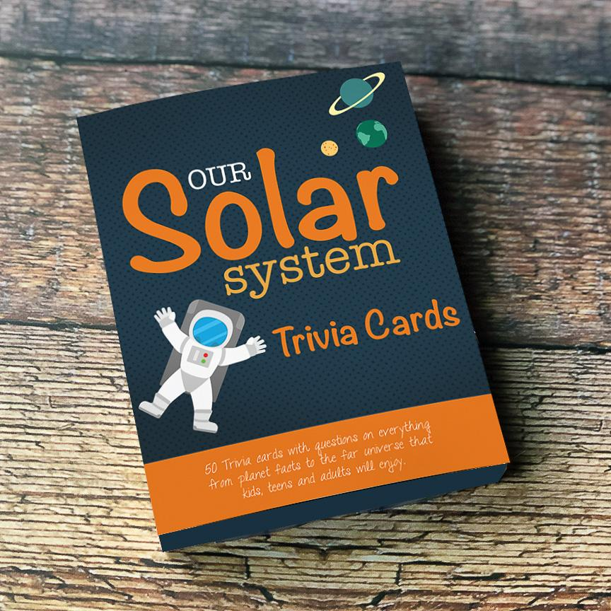 Our Solar System Trivia Cards, Pk of 4