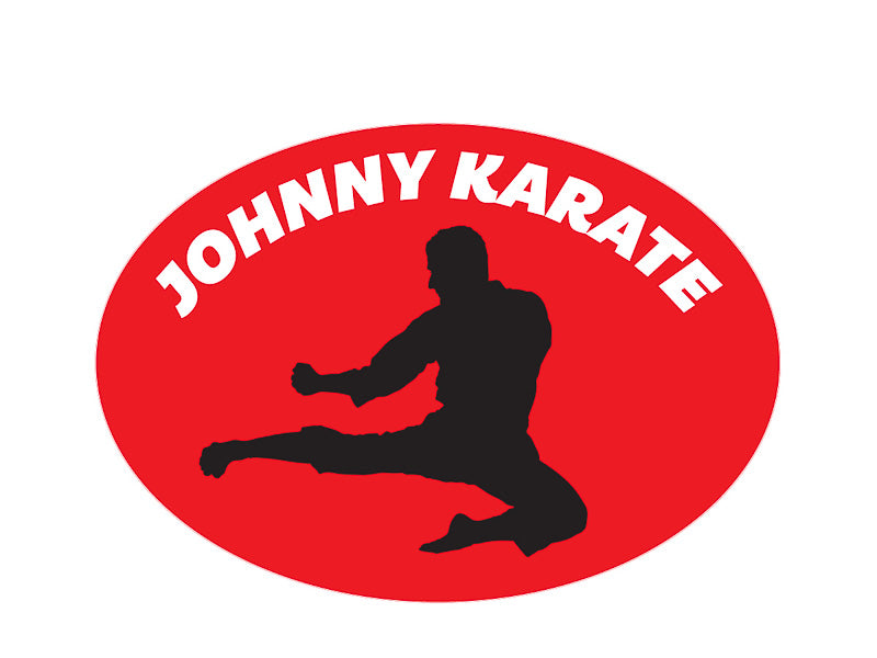 Johnny Karate Kiss-Cut Sticker - Pack of 6