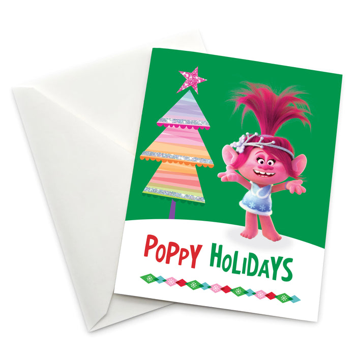 Greeting Card: Trolls, Queen Poppy Poppy Holidays - Pack of 6