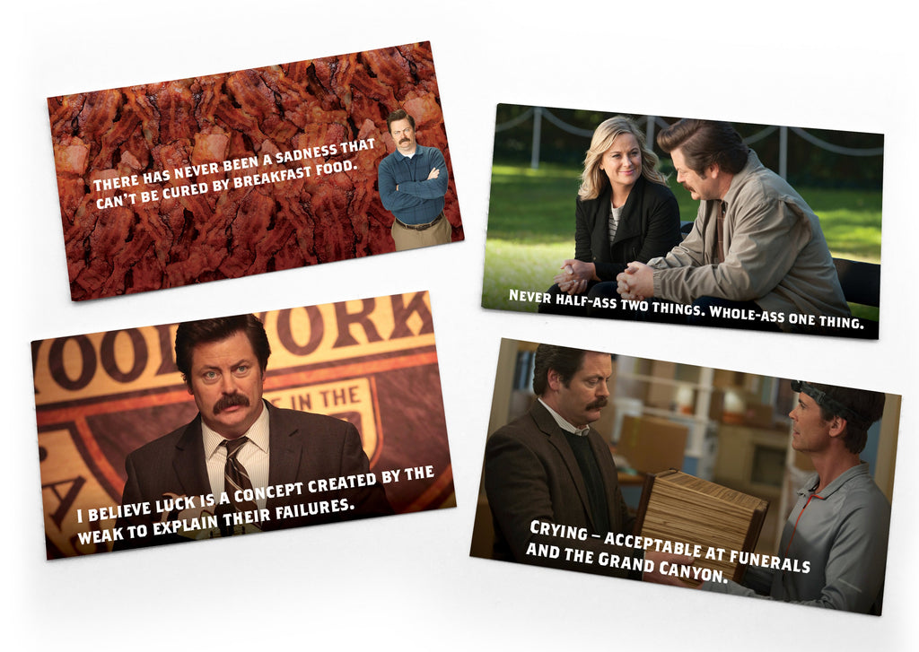 Ron Swanson Notes of Wisdom: Box of 15