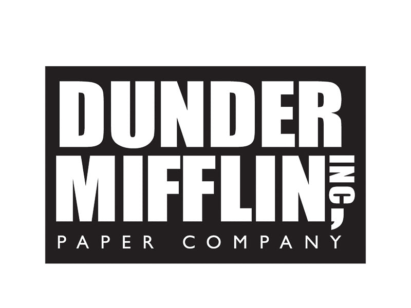 Sticker: The Office, Dunder Mifflin Logo - Pack of 6