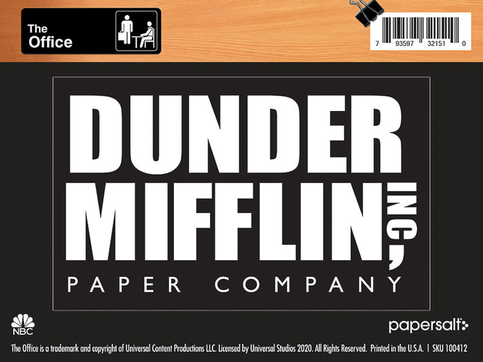 Dunder Mifflin Logo Kiss-Cut Sticker - Pack of 6