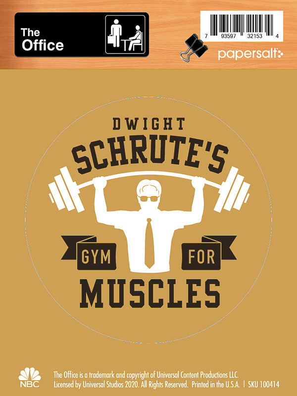 Dwight Schrute's Gym for Muscles Kiss-Cut Sticker - Pack of 6