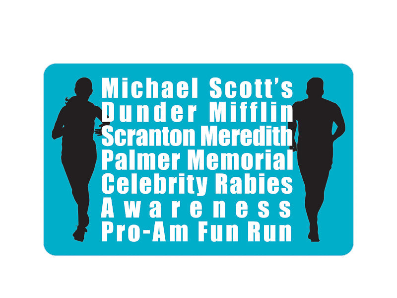 Michael Scott's Fun Run Kiss-Cut Sticker - Pack of 6