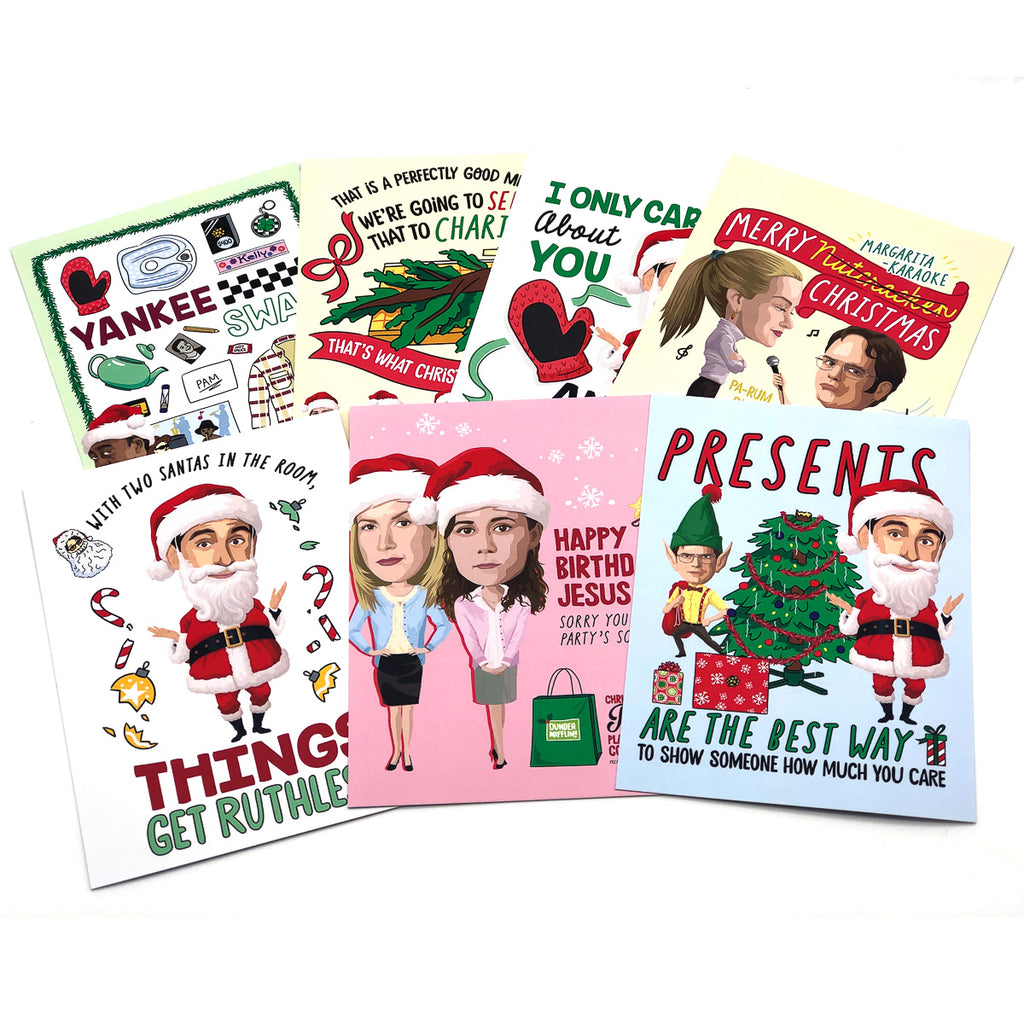 Greeting Card: The Office, Holiday Set of 21 Greeting Cards - Pack of 6