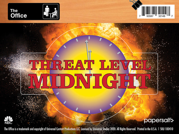 Threat Level Midnight Kiss-Cut Sticker - Pack of 6