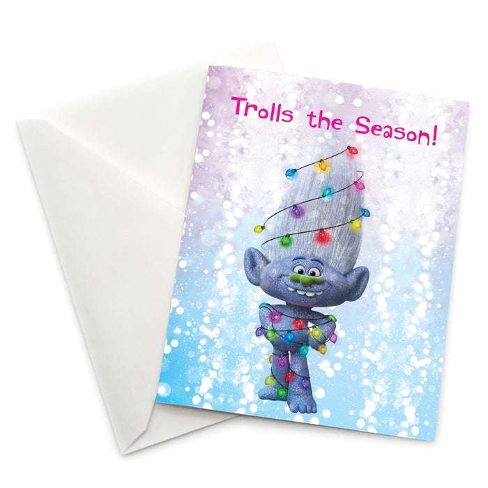 Greeting Card: Trolls, Guy Diamond Trolls the Season! - Pack of 6