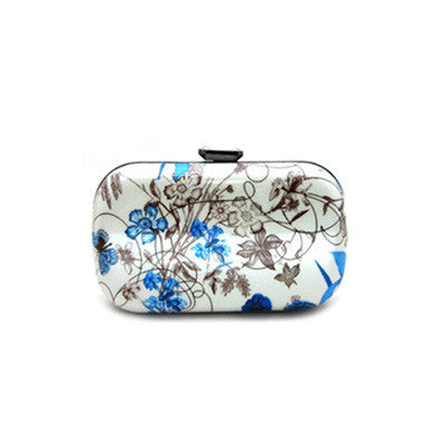 Floral Hard Case Clutch