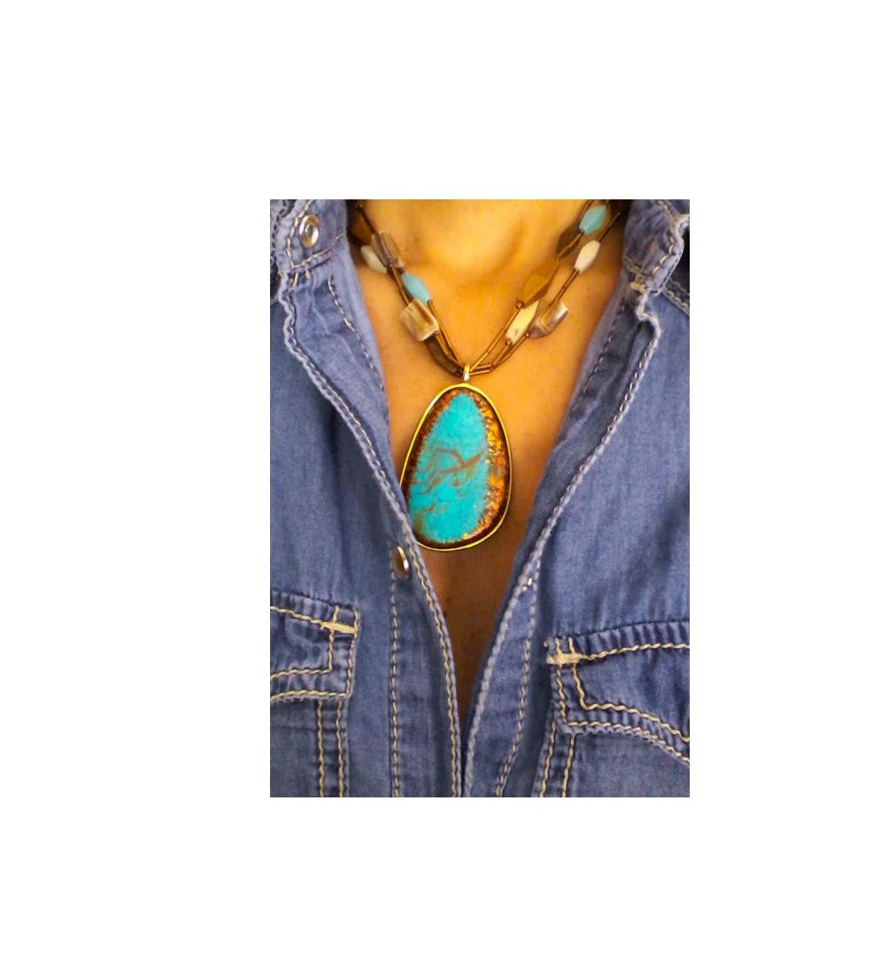 Indigo Blue Stone Necklace