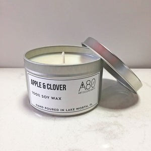 Apple & Clover Candle Tin