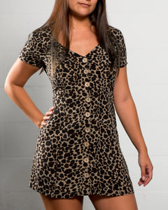 Angela Babydoll Dress Leopard