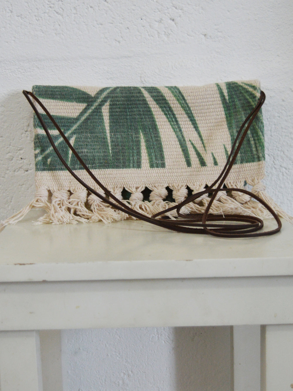 Palm Print Crossbody Bag