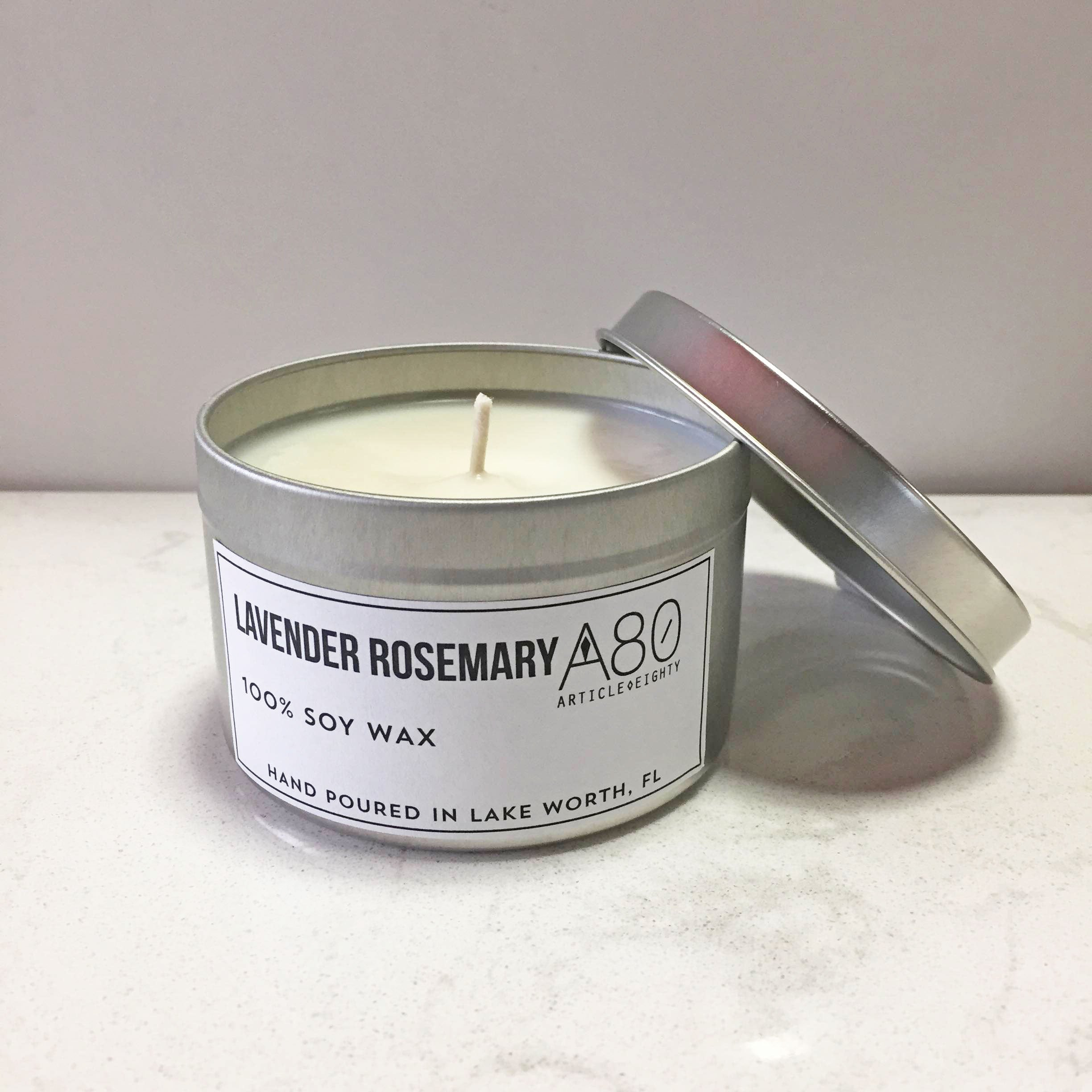 Lavender Rosemary Candle Tin