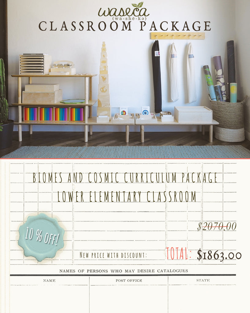 BIOMES AND COSMIC CURRICULUM PACKAGE-LOWER ELEMENTARY CLASSROOM