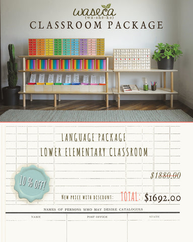 LANGUAGE PACKAGE-LOWER ELEMENTARY CLASSROOM