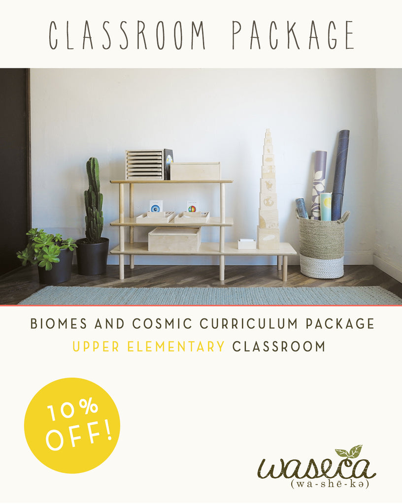 Biomes and Cosmic Curriculum Package-Upper Elementary Classroom