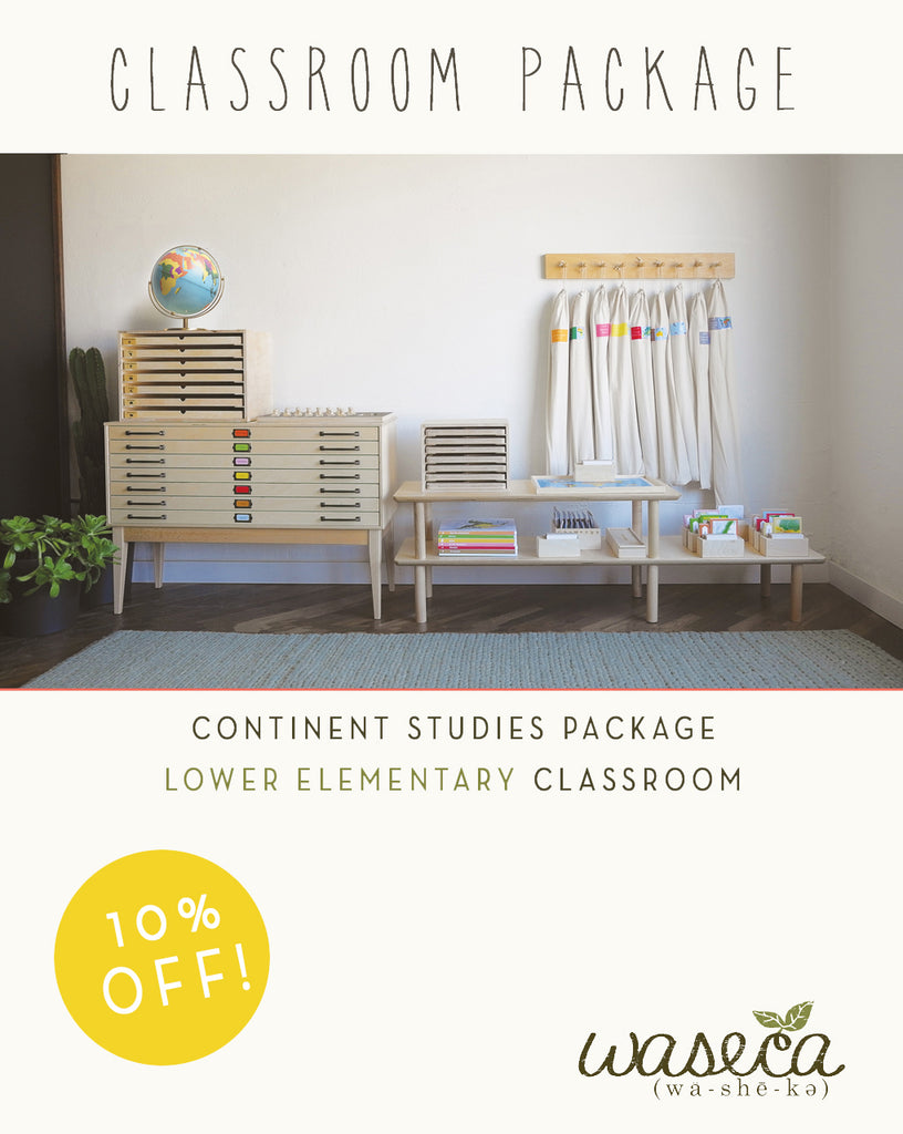 Continent Studies Package-Lower Elementary Classroom