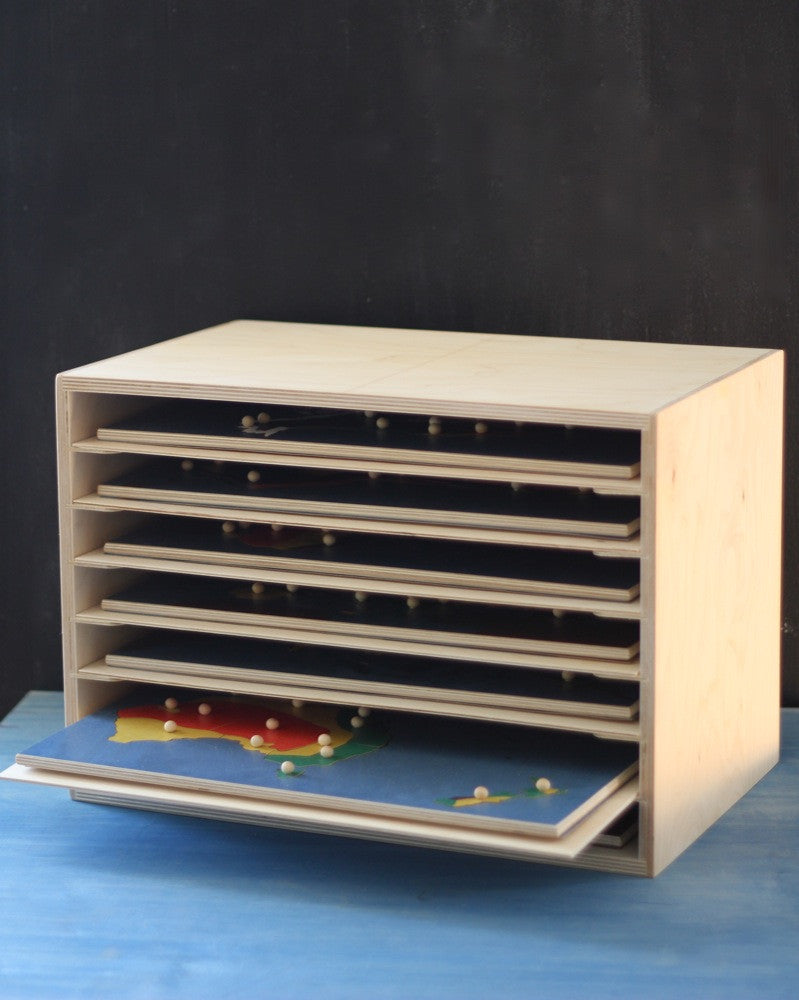 Puzzle map cabinet